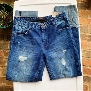 Cuffed & Distressed Zara Jeans 👖